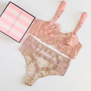 Victoria's Secret pink lingerie set - 36A/MEDIUM